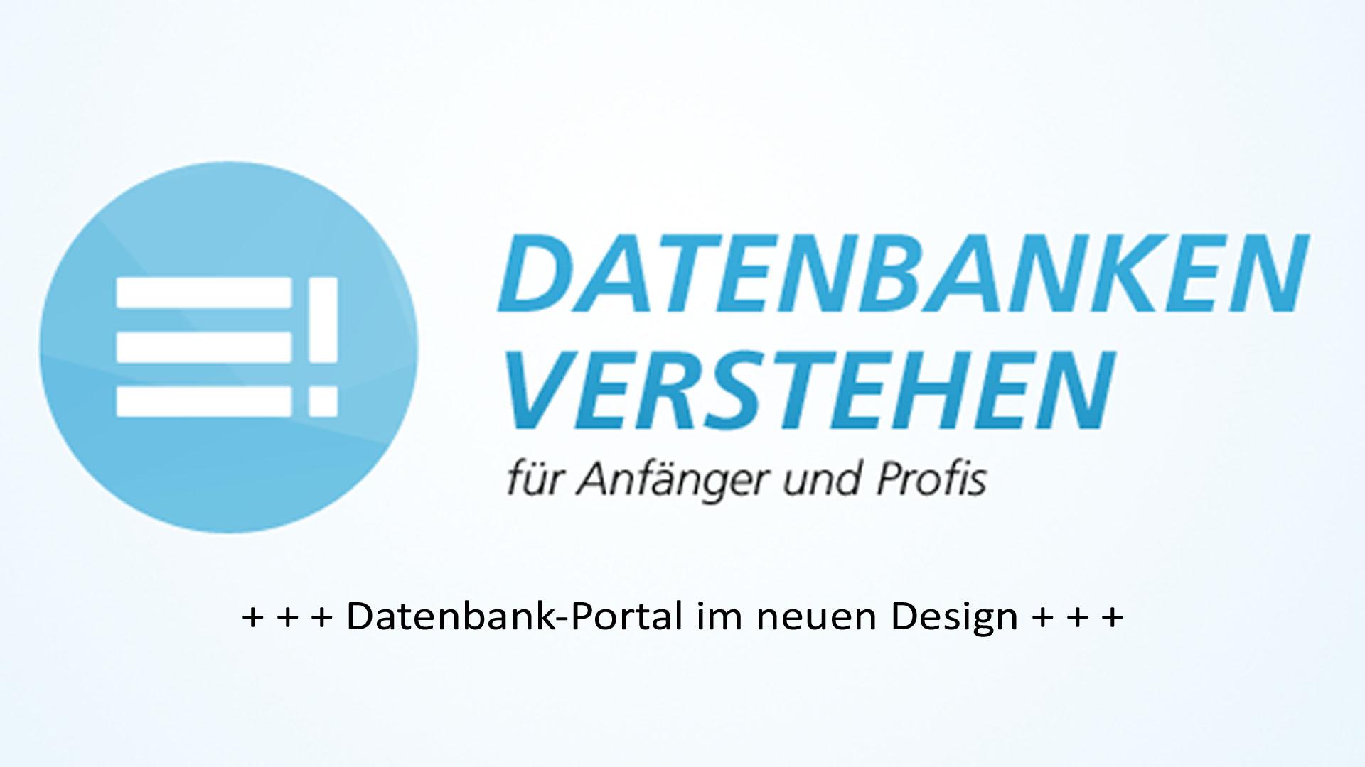 Datenbank Portal im neuen Design | Datenbank Blog