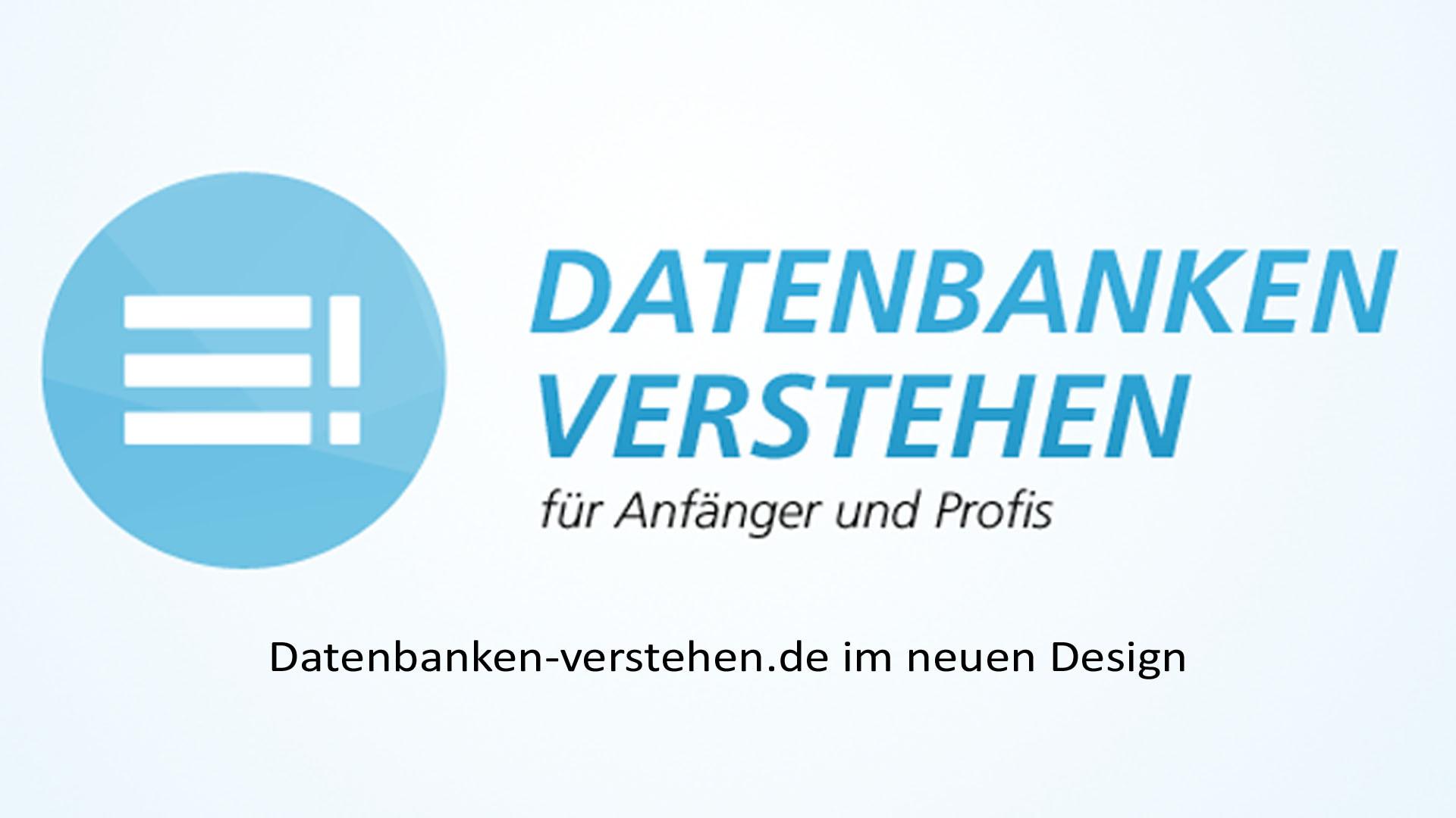 Datenbanken-verstehen.de im neuen Design! | Datenbank Blog