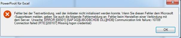 ODBC Passwort fehlt