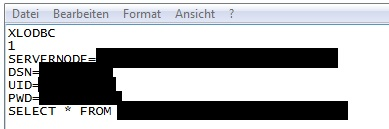 ODBC Query mit Notepad
